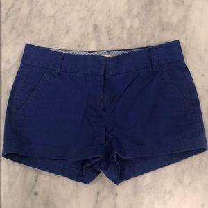 Royal blue/navy blue chino jcrew shorts!